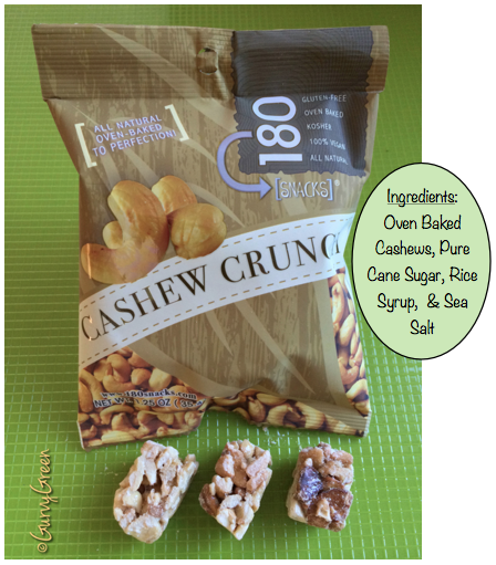 Cashew Crunch 180 snacks all natural oven baked to perfection