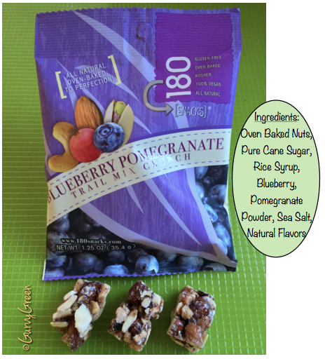 Blueberry Pomegranate Trail Crunch 180 snack all natural oven baked