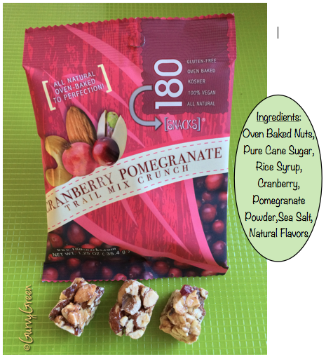 Cranberry Pomegranate Trail Mix Crunch all natural oven baked