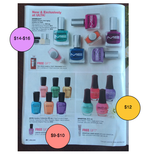 Ulta Nail Polish free of Toxic Trio