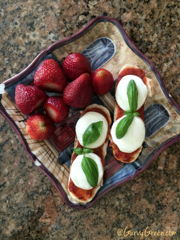 Munch on this Monday Caprese with Strawberries Afterschool snack