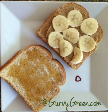 Munch on this Monday Banana Honey Sandwich Snack
