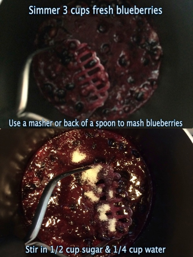 How to make blueberry syrup