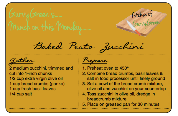 Munch on this Monday How to make baked zucchini