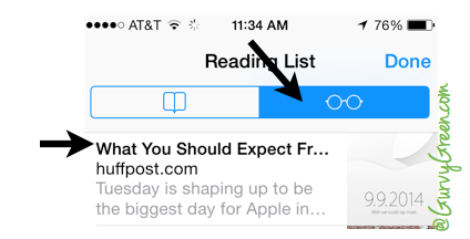 How to use apples reading list to read offline on iPad and iPhones
