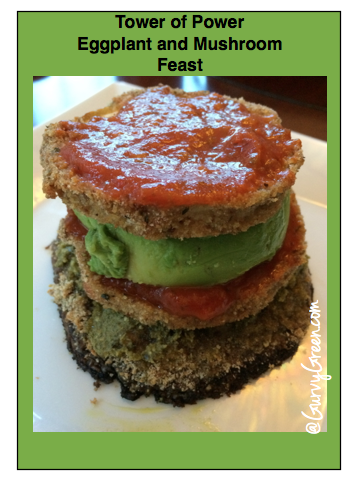 Munch on this Monday Eggplant and Mushroom Tower
